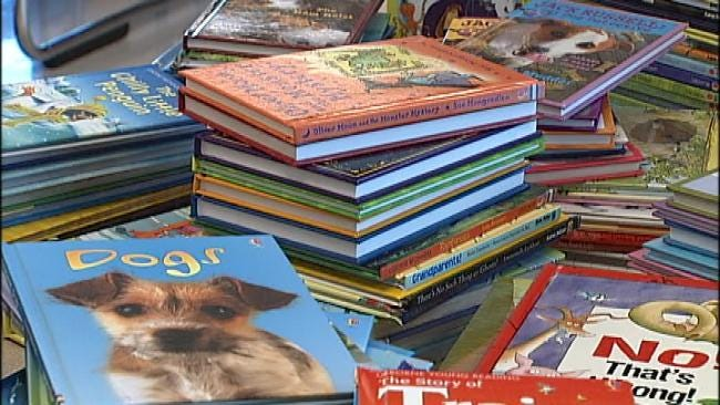 Green Country Community's Donations Stock Elementary School Library