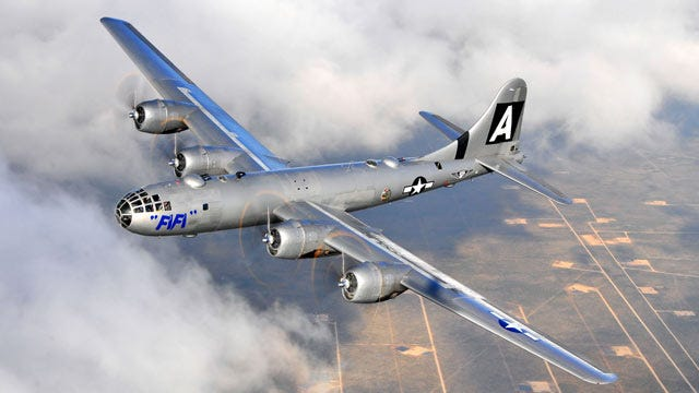 World War II B-29 Superfortress To Visit Tulsa Later This Month