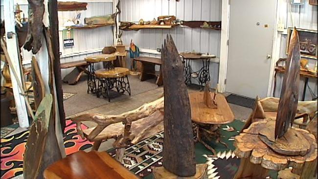 Furniture Maker Turns Oklahoma Soil, Trees Into Art