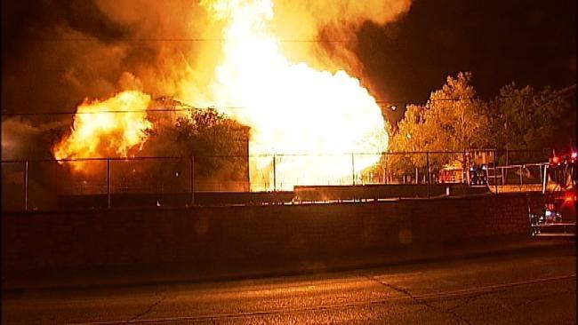 Three Firefighters Injured In Tulsa School Fire Receive Skin Grafts