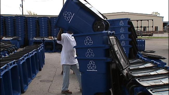 Many Tulsa Residents Resistant To Recycling As New Carts Are Delivered