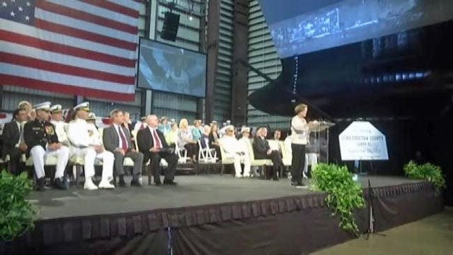 New Navy Ship, USNS Choctaw County, Christened In Alabama