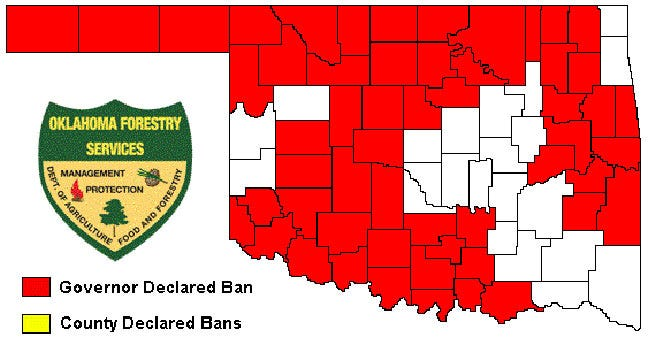 State Burn Ban Lifted For Some Eastern Oklahoma Counties