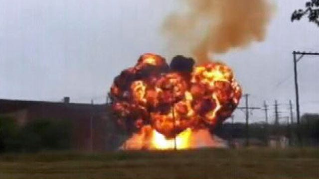 Video: Fire And Explosion Damage Ponca City Electrical Substation