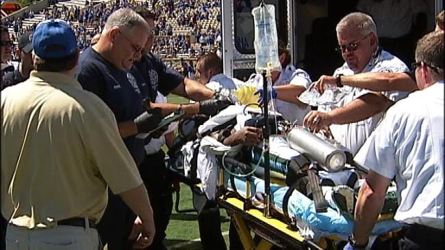 Tulane Football Player Injured In Football Game At TU To Be Moved
