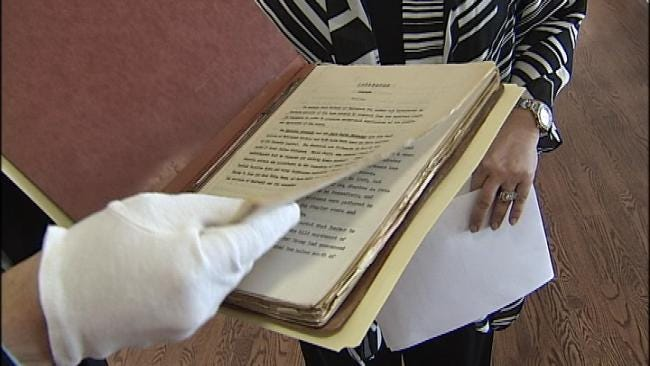 Tulsa Historical Society Donates Important Document To Gilcrease Museum
