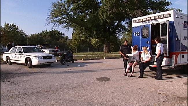 Motorcyclist Arrested After Crashing Into Tulsa Police Car