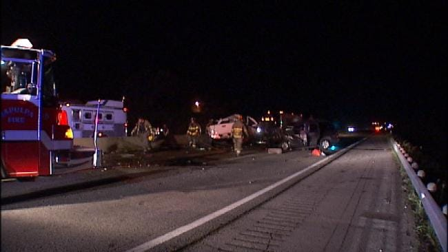 OHP: Two Dead In Crash Caused By Wrong-Way Driver On Turner Turnpike