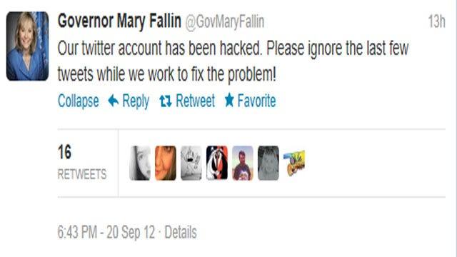 Oklahoma Governor Mary Fallin's Twitter Account Hacked