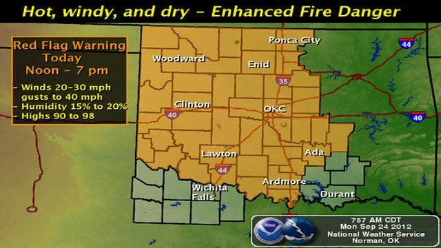Western Half Of Oklahoma Under Red Flag Fire Warning