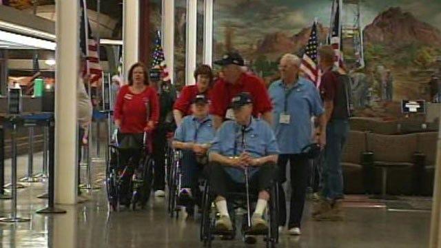 Honor Flight Takes Oklahoma WWII Veterans To National Memorial