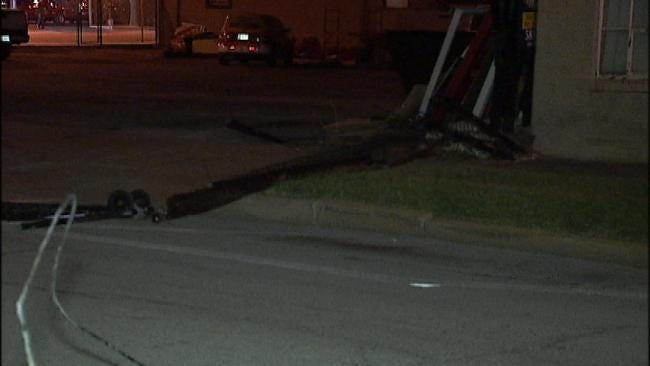 Police: Tulsa Business' Fence Destroyed By Vehicle Thieves