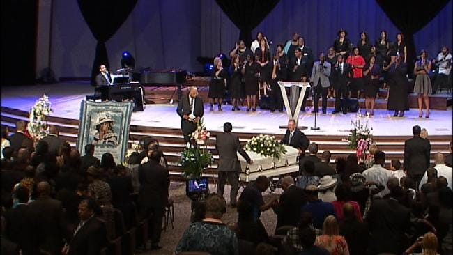 Friends, Family Say Goodbye To Tulsa's Mother Grace Tucker