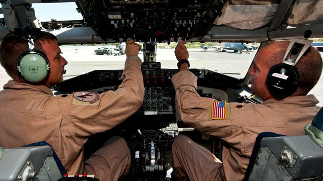 Oklahoma AIr National Guard Tanker Crew Assist Fighter Jet Over Hostile Territory