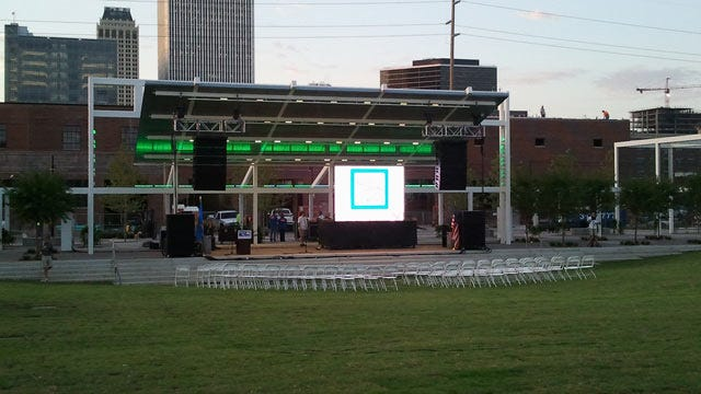 Tulsa's Newest Park Opens In The Brady Arts District