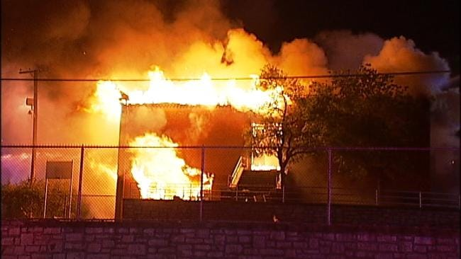 Tulsa Firefighter Injured In School Fire Is Released From Hospital