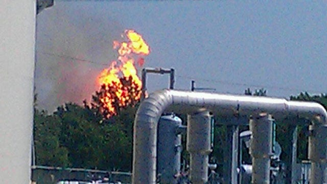 No Injuries In Pipeline Explosion, Fire In Pittsburg County