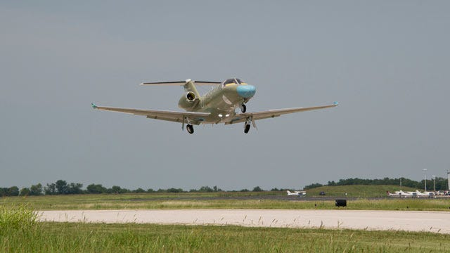 Cessna's Newest Business Jet Takes Maiden Flight At Independence, Kansas