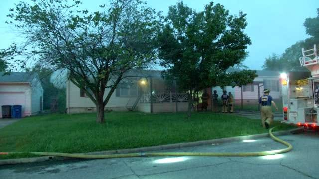 Tulsa Firefighter Treated For Smoke Inhalation During House Fire