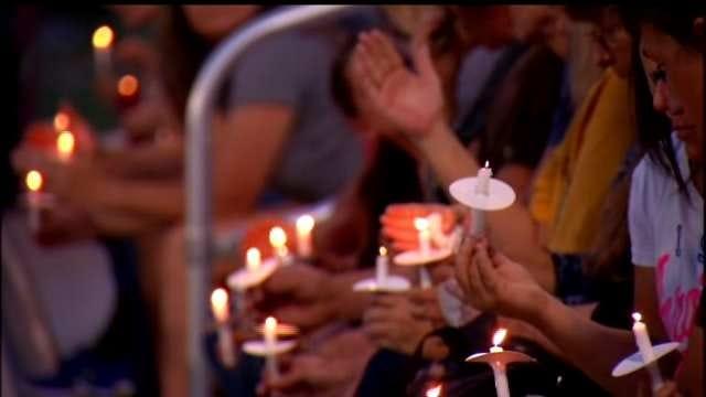 Kellyville Community Holds Vigil For 4 Killed In Highway 66 Crash