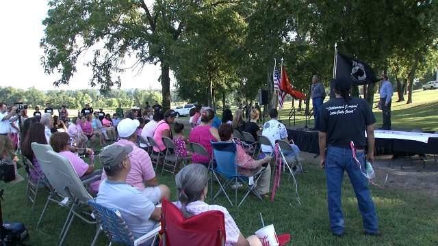 Supporters Of Dusten Brown Rally In Tahlequah
