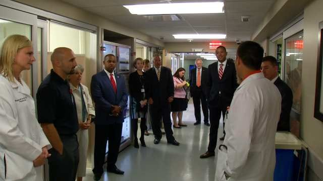 Oklahoma Lawmakers Tour Tulsa's OSU Medical Center
