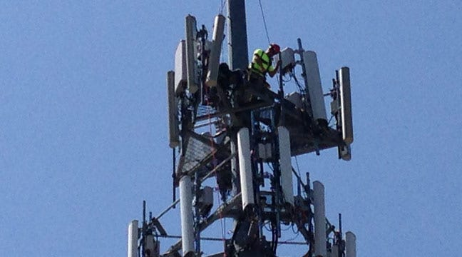 Tulsa Fire Department Rescues Worker From Top Of Cell Phone Tower
