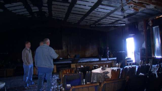 Wynona Church Meets For First Time After Building Was Torched