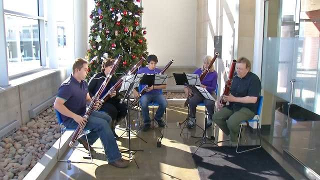 Tulsa's 'Barking Basset Bassoon Band' Warms Up For Holiday Concert