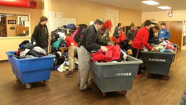 Bishop Kelley Students Collect More Than 850 Coats For Trav's Coats For Kids