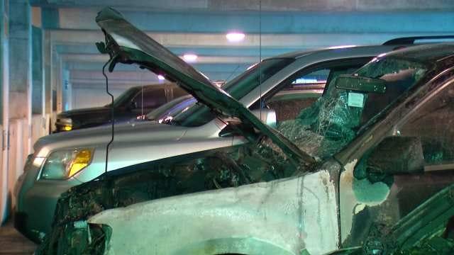 Fire Damages Cars In Tulsa Hospital Parking Garage