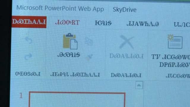 Microsoft Now Offering Cherokee Language Option