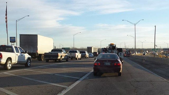 Two Crashes On I-44 On Tulsa's Arkansas River Bridge Backs Up Traffic