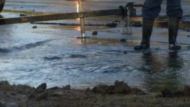 Tulsa Crews Work To Repair East 21st Street Water Main Break