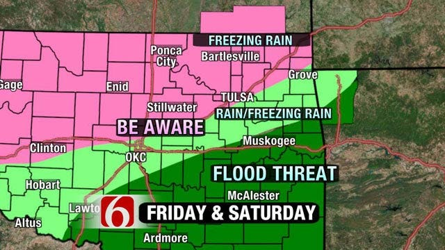 Wintry Weather Headed To Oklahoma This Weekend