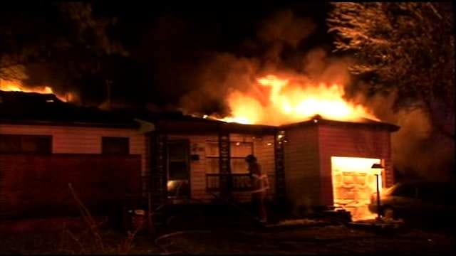 Tulsa Family Loses Home To Overnight Fire