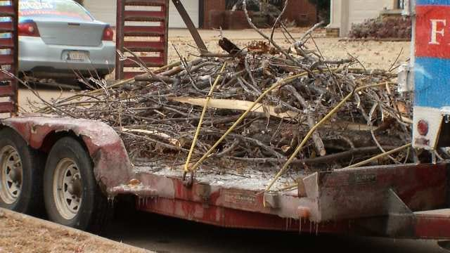 Oklahoma Ice Storm Keeps Tree Trimmers Busy