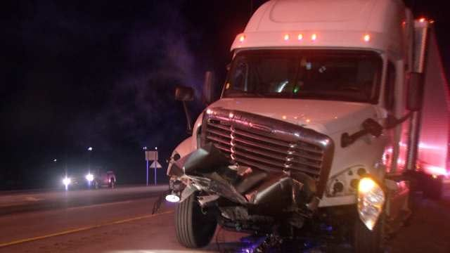 Head-On Crash On I-44 West Of Tulsa Sends One Driver To The Hospital