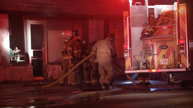Small Tulsa Upholstery Store Damaged In Christmas Morning Fire