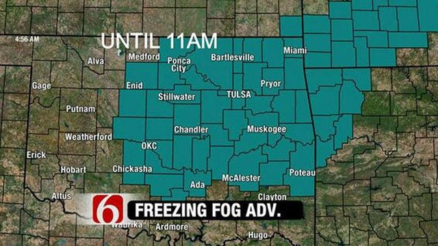 Freezing Fog Advisory Issued For All Of Eastern Oklahoma