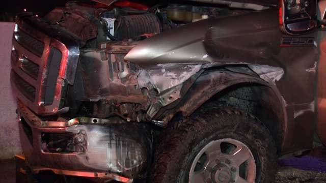Oklahoma Highway Patrol Investigates Two Pickup Crashes In Tulsa