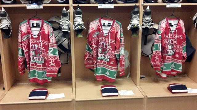 Tulsa Oilers Reveal Special Christmas Jerseys