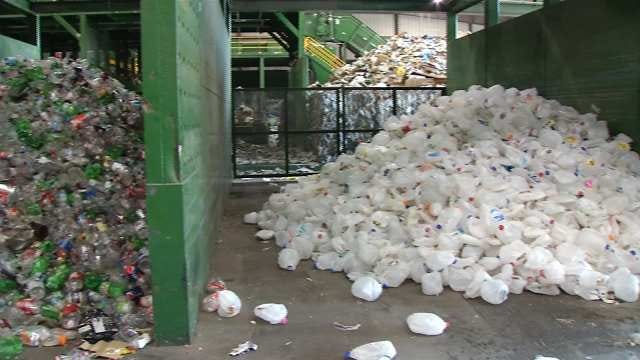 Tulsa Recycling Company Sorts Through After-Christmas Trash