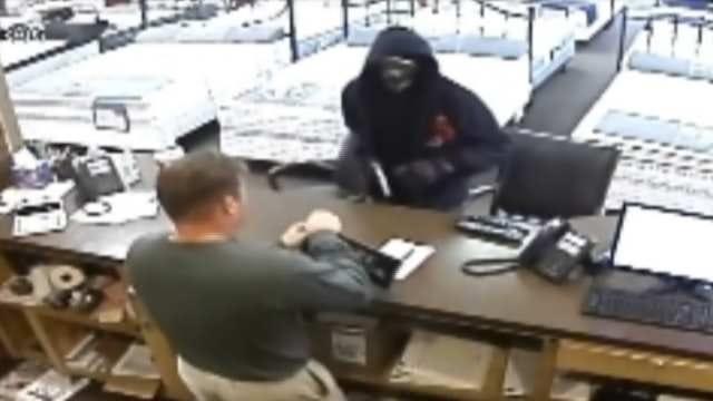 Armed Robbery Of Broken Arrow Mattress Store Caught On Tape