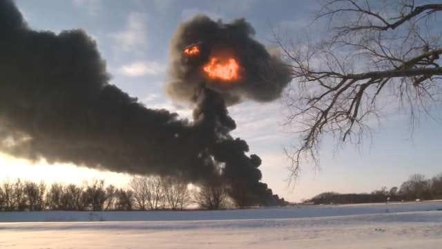 Evacuations 'Strongly' Urged Near North Dakota Train Derailment