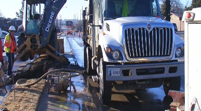Tulsa Waterline Break Cuts Supply To 25 Businesses