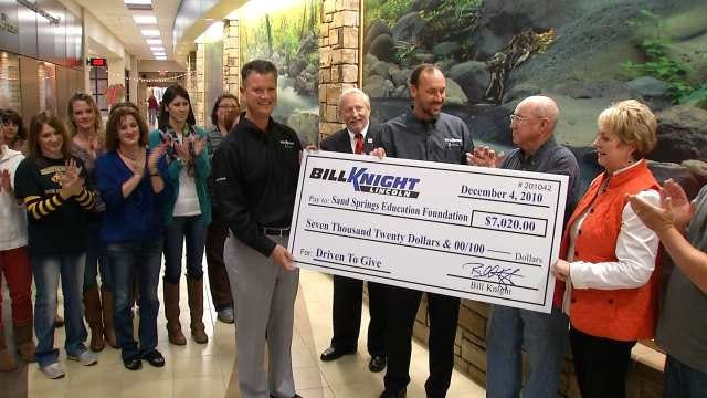 Bill Knight Lincoln Hands Over $7K To Sand Springs Education Foundation