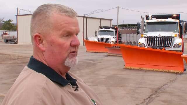 State Road Crews Prepare Roads For Snow, Ice