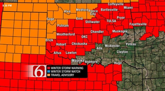 Oklahoma Governor Declares State Of Emergency In Winter Storm
