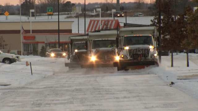 Crews Hard At Work Clearing Snow From Tulsa Christmas Parade Route